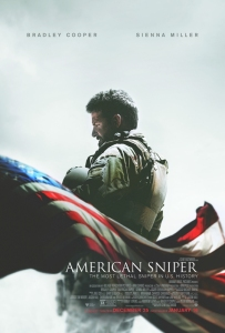 """(RNS3-jan13) """"American Sniper"""" movie poster. For use with RNS-AMERICAN-SNIPER, transmitted on January 13, 2015, Photo courtesy of Warner Bros. Pictures."""
